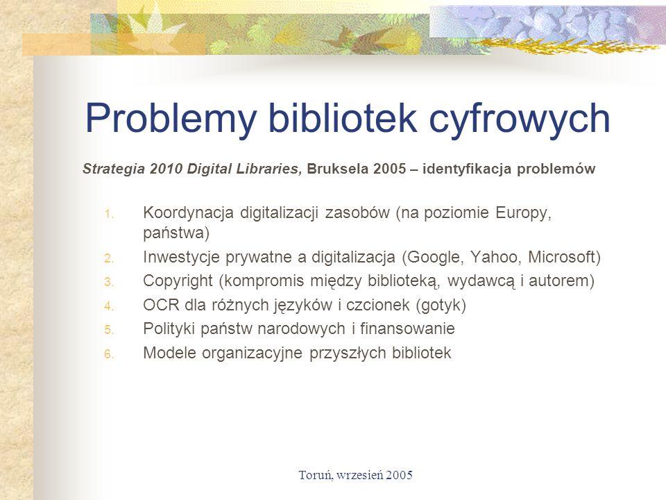 Problemy bibliotek cyfrowych