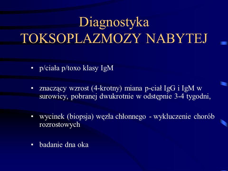 Diagnostyka TOKSOPLAZMOZY NABYTEJ