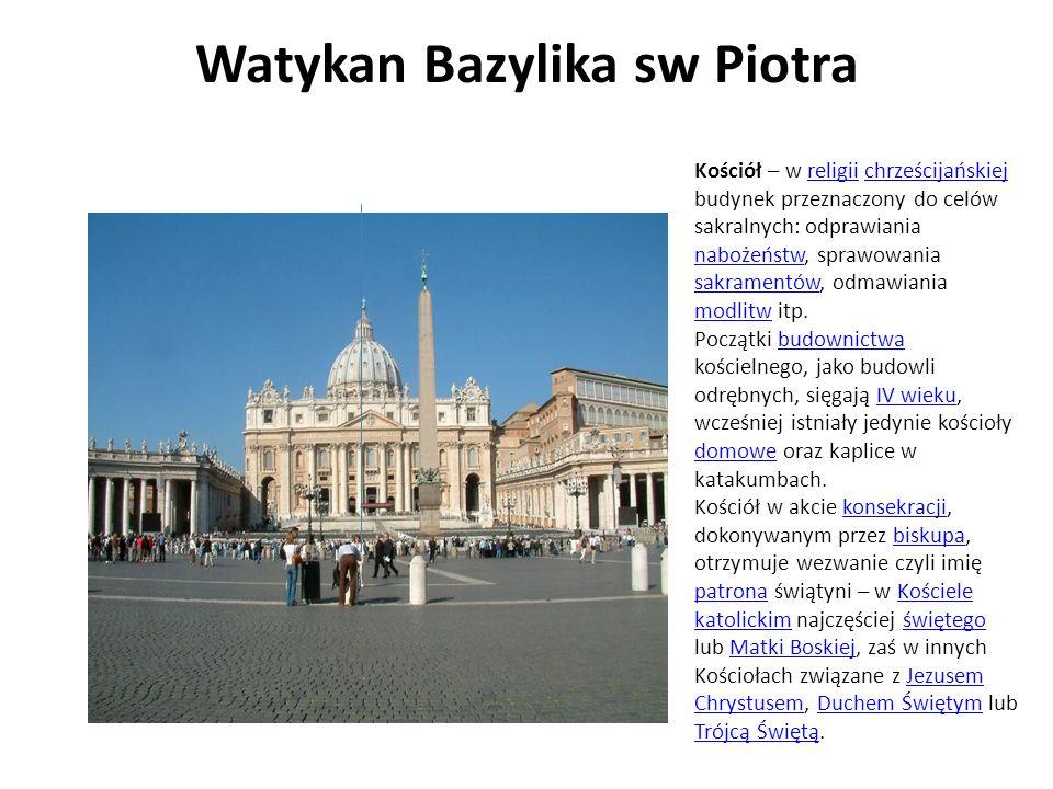 Watykan Bazylika sw Piotra