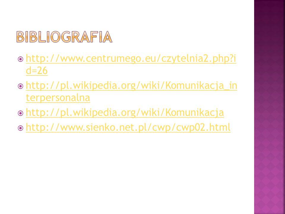 Bibliografia http://www.centrumego.eu/czytelnia2.php i d=26