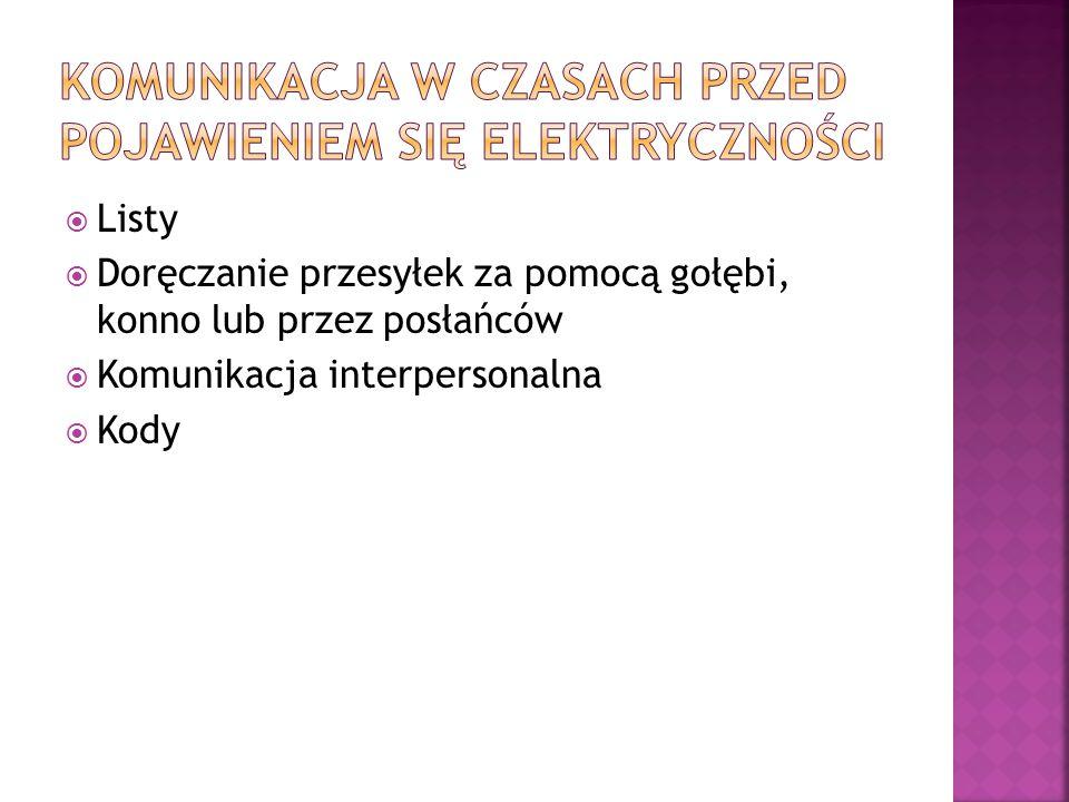 Komunikacja w czasach przed pojawieniem się elektryczności