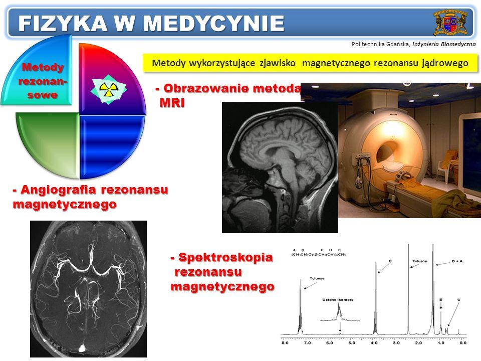 Metody wykorzystujące zjawisko magnetycznego rezonansu jądrowego