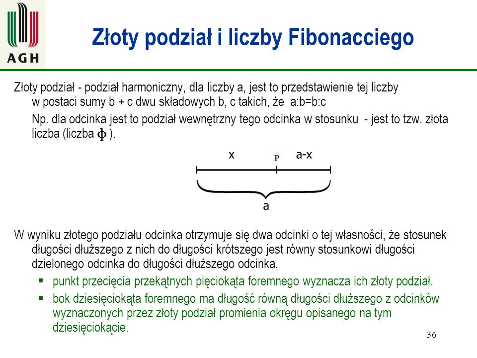 Złoty podział i liczby Fibonacciego