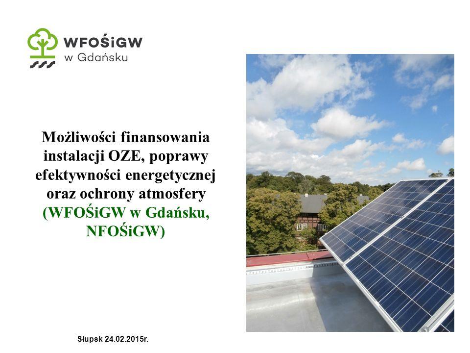 Możliwości finansowania instalacji OZE, poprawy efektywności energetycznej oraz ochrony atmosfery (WFOŚiGW w Gdańsku, NFOŚiGW)