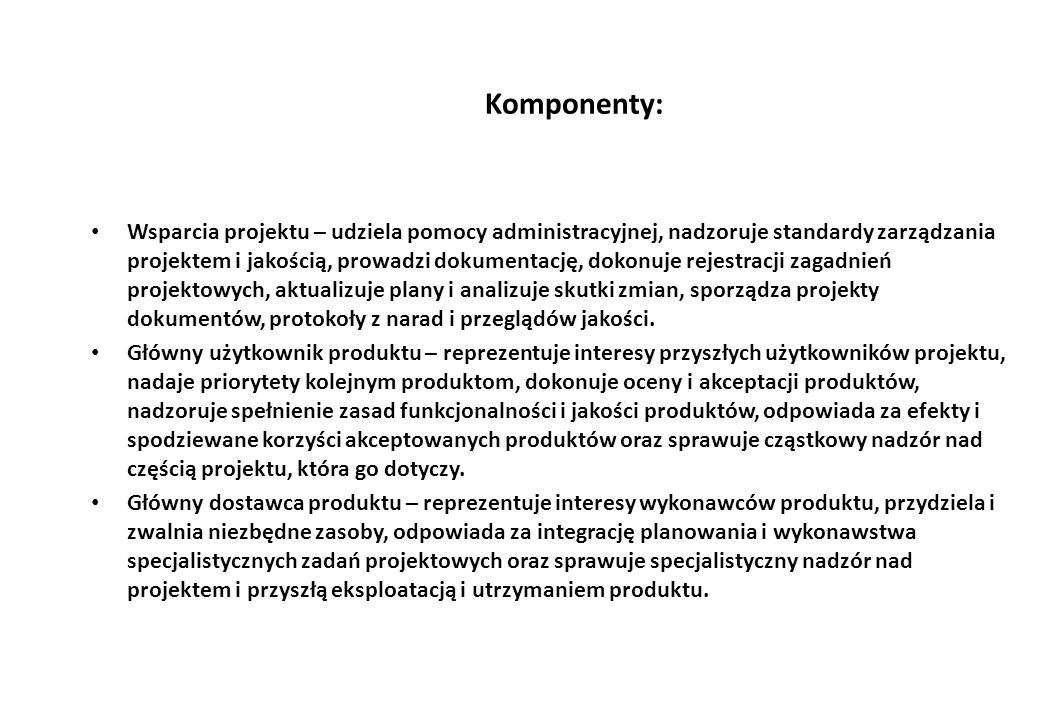 Komponenty: