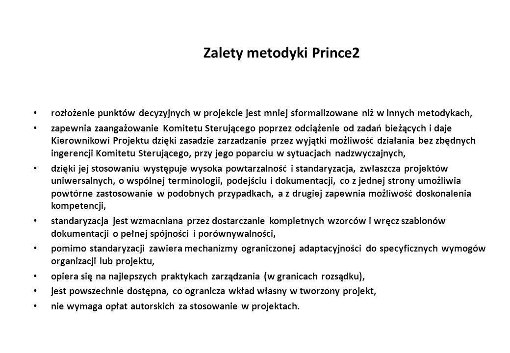 Zalety metodyki Prince2