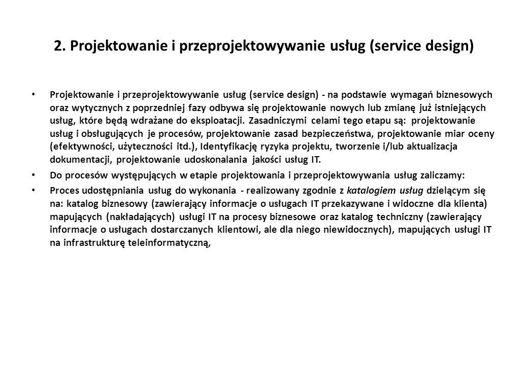 2. Projektowanie i przeprojektowywanie usług (service design)