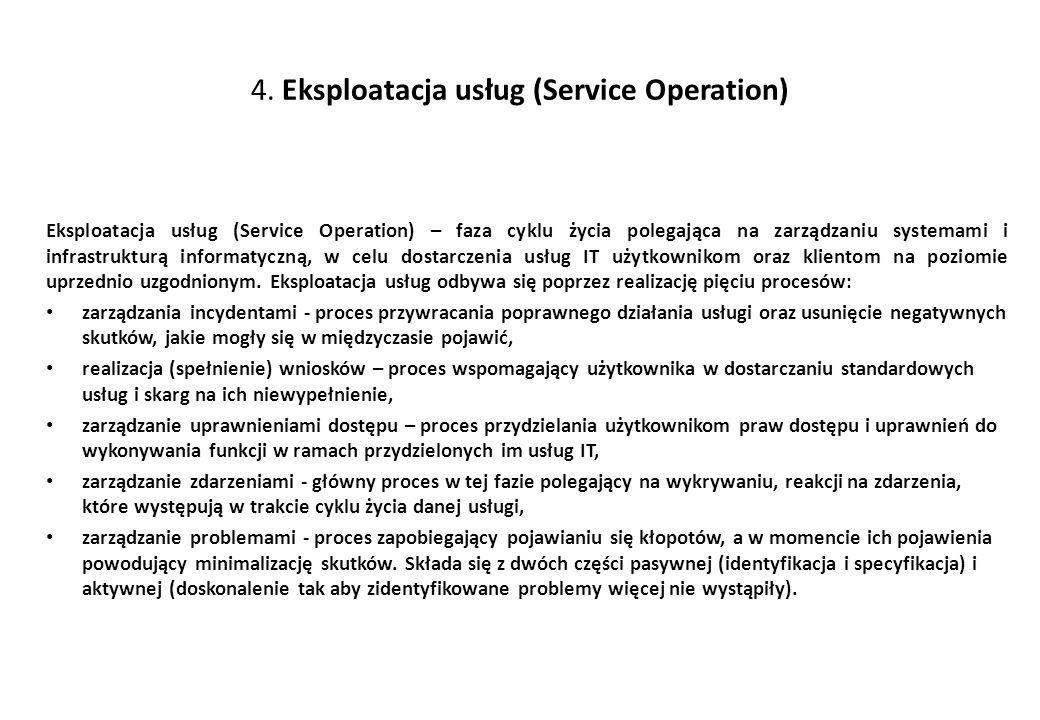 4. Eksploatacja usług (Service Operation)