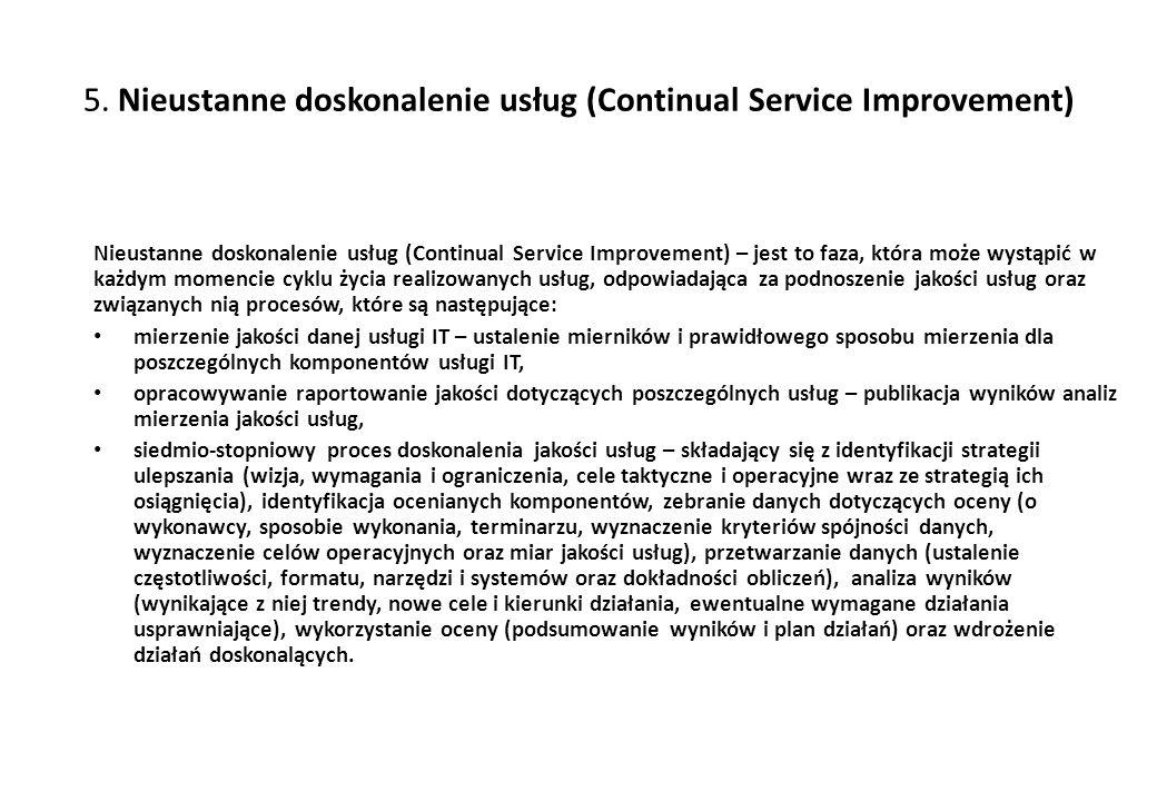 5. Nieustanne doskonalenie usług (Continual Service Improvement)