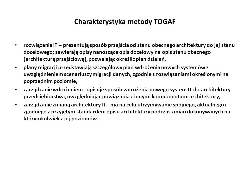 Charakterystyka metody TOGAF