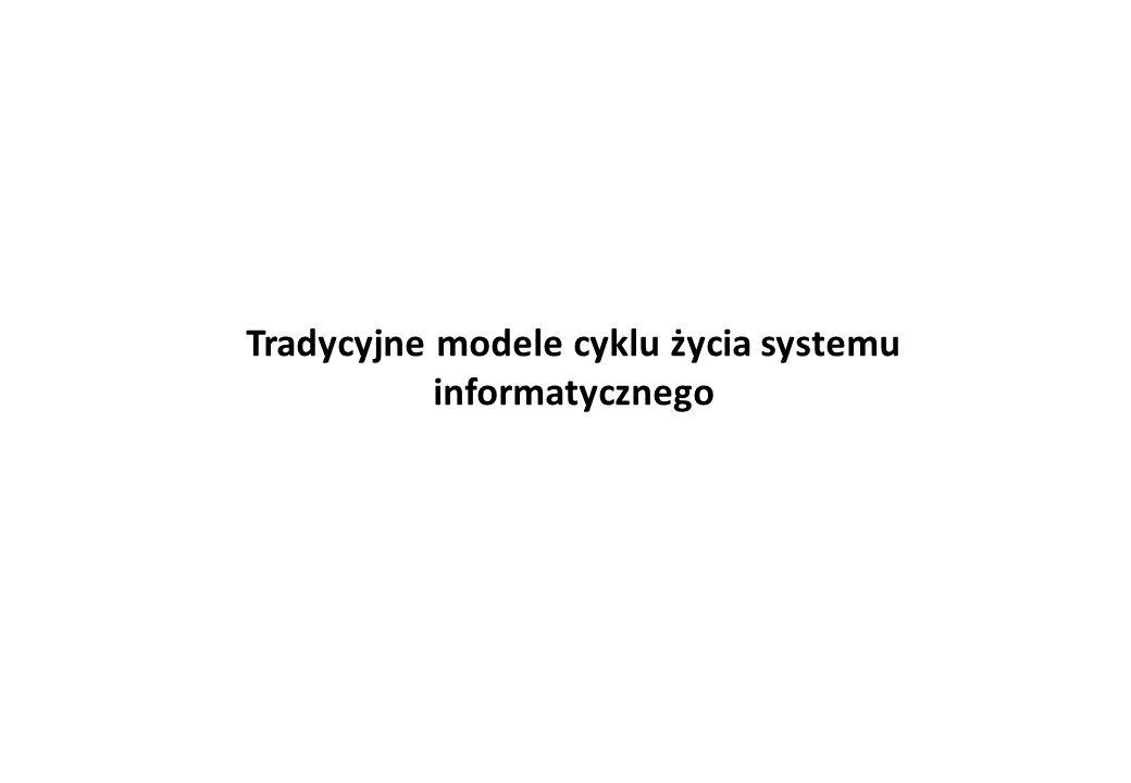 Tradycyjne modele cyklu życia systemu informatycznego