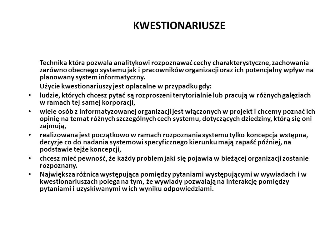 KWESTIONARIUSZE
