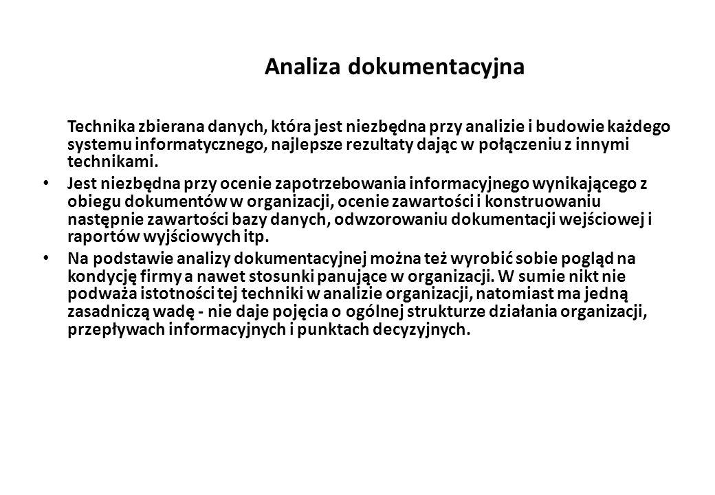 Analiza dokumentacyjna