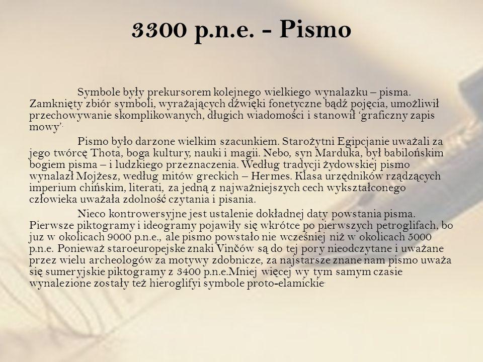 3300 p.n.e. - Pismo