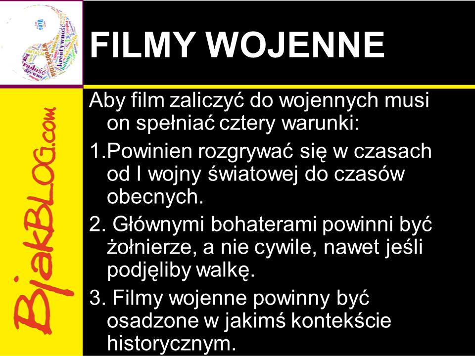 FILMY WOJENNE
