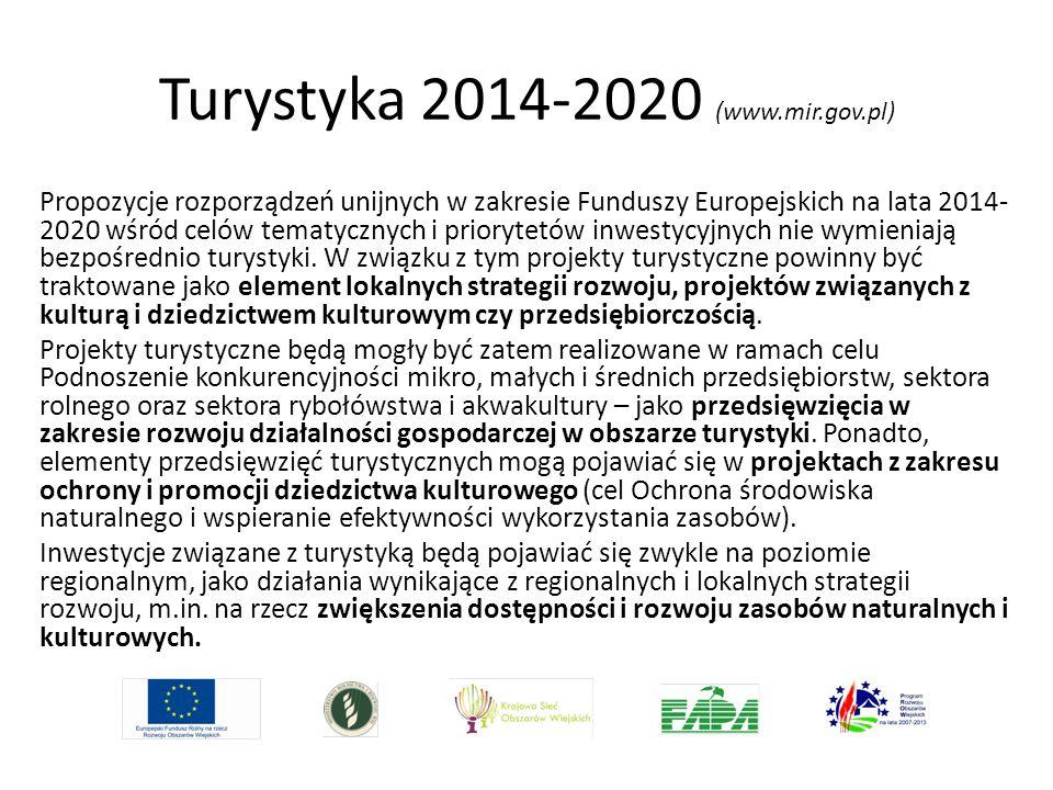 Turystyka 2014-2020 (www.mir.gov.pl)