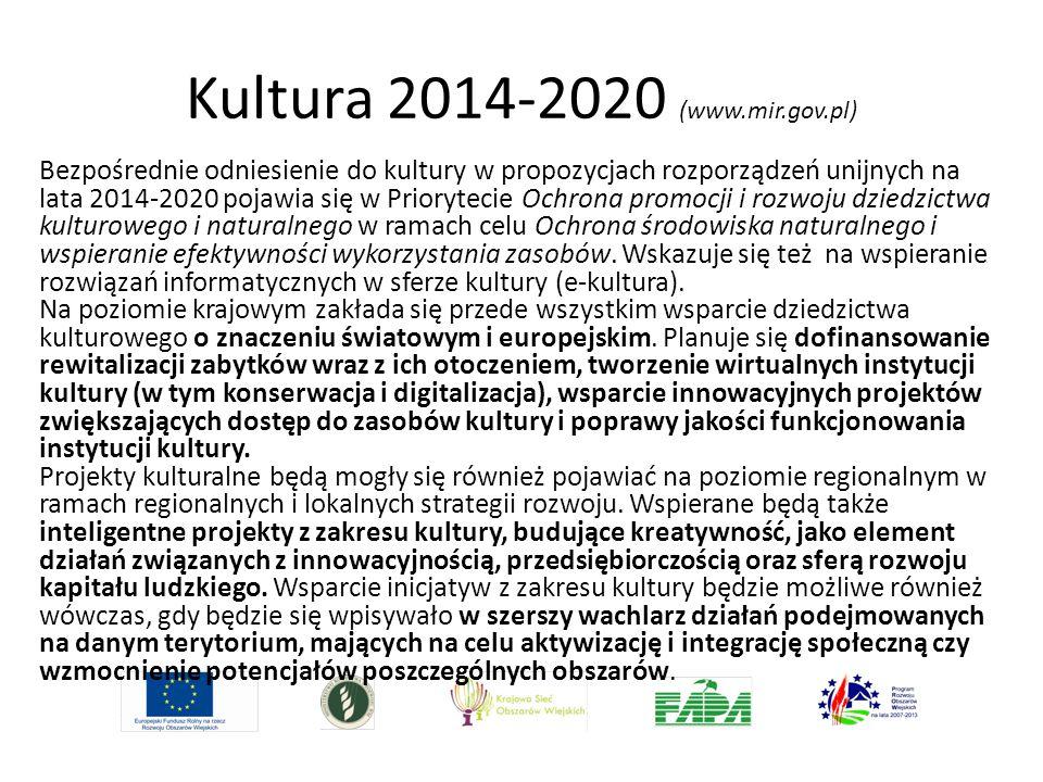 Kultura 2014-2020 (www.mir.gov.pl)