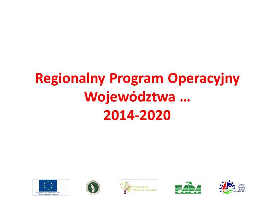Regionalny Program Operacyjny Województwa … 2014-2020