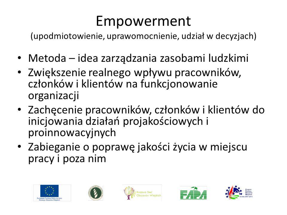 Empowerment (upodmiotowienie, uprawomocnienie, udział w decyzjach)