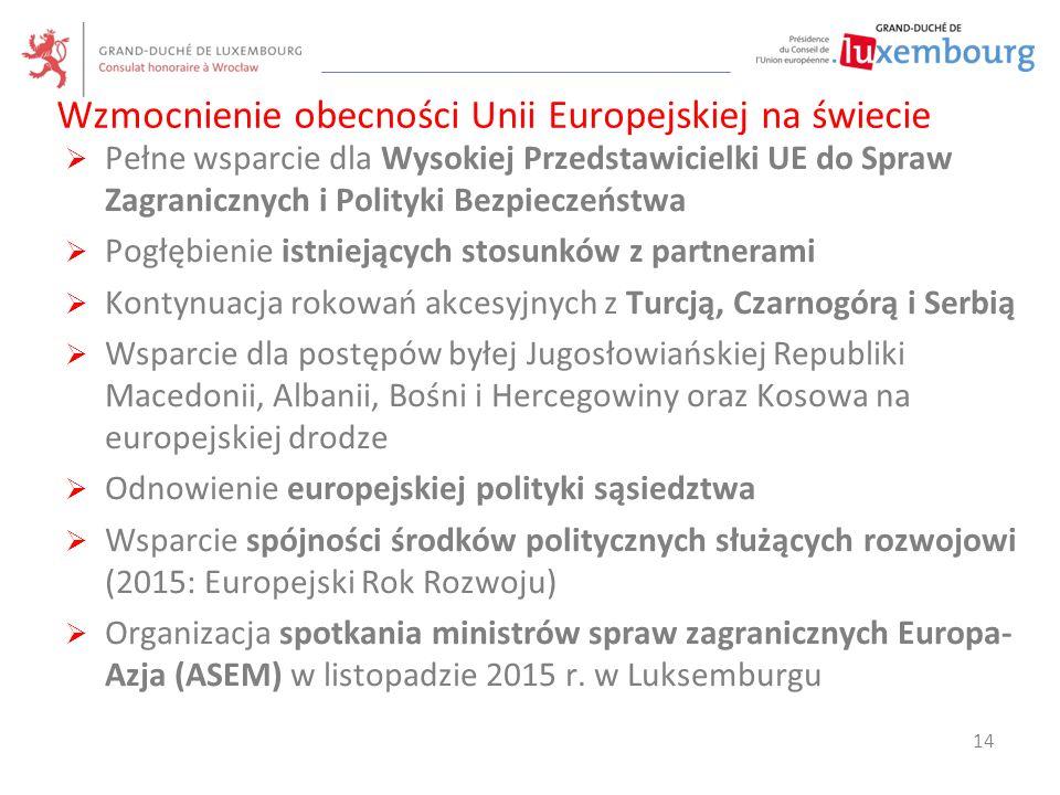 Wzmocnienie obecności Unii Europejskiej na świecie