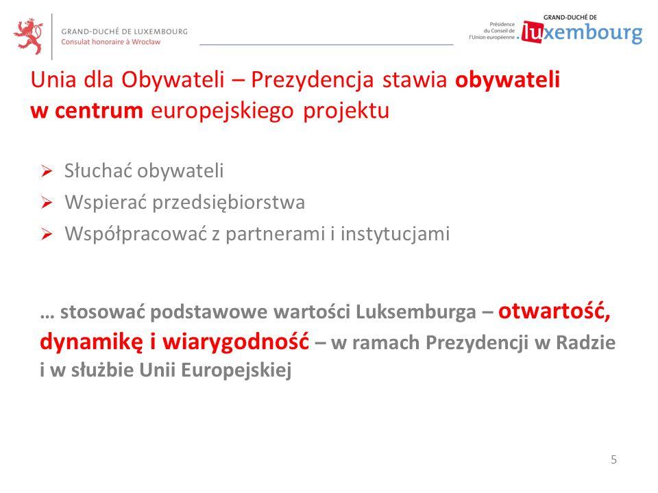 Unia dla Obywateli – Prezydencja stawia obywateli w centrum europejskiego projektu