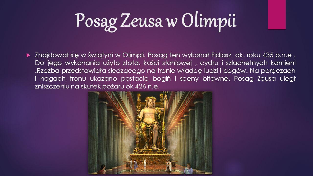 Posąg Zeusa w Olimpii