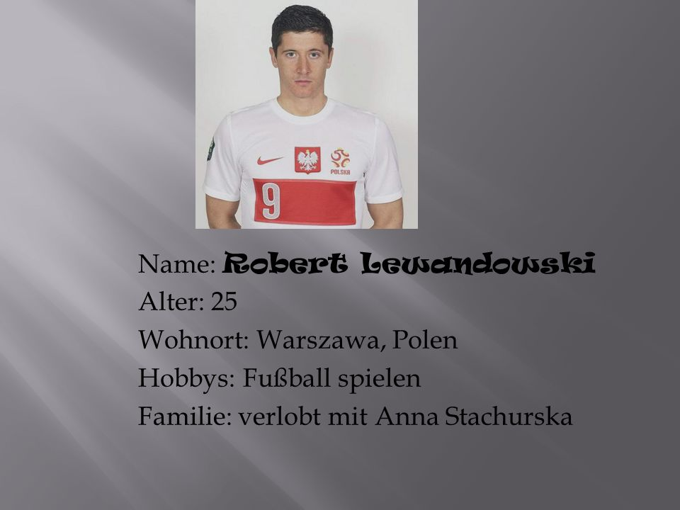 Name: Robert Lewandowski
