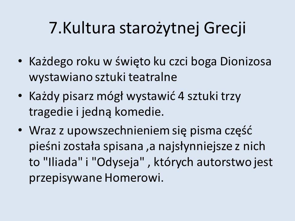 7.Kultura starożytnej Grecji