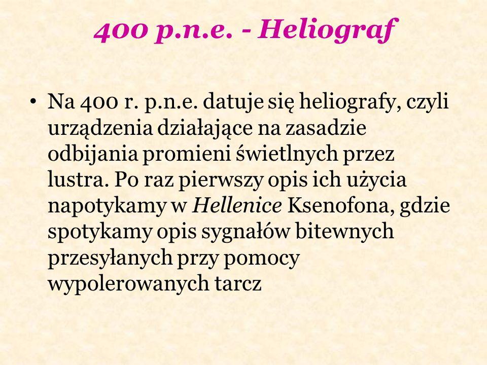 400 p.n.e. - Heliograf