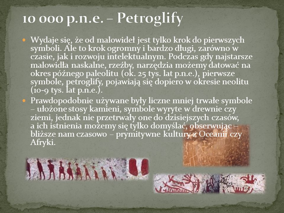 10 000 p.n.e. – Petroglify
