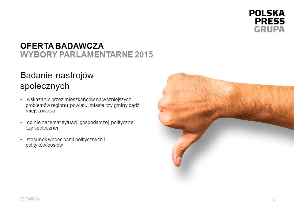 Oferta badawcza wybory parlamentarne 2015