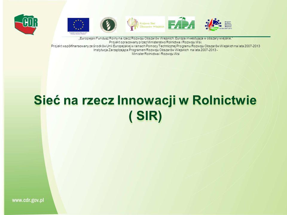 Sieć na rzecz Innowacji w Rolnictwie ( SIR)