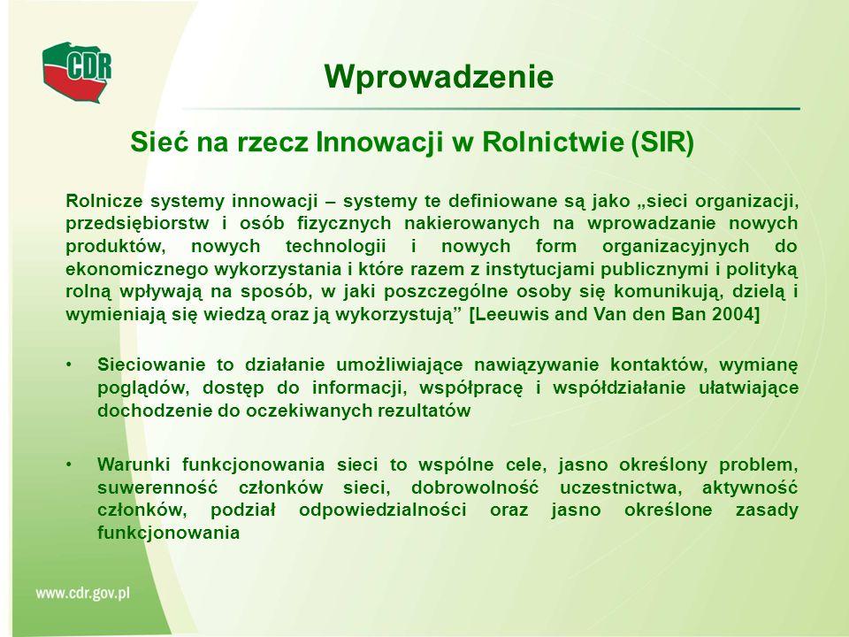 Sieć na rzecz Innowacji w Rolnictwie (SIR)