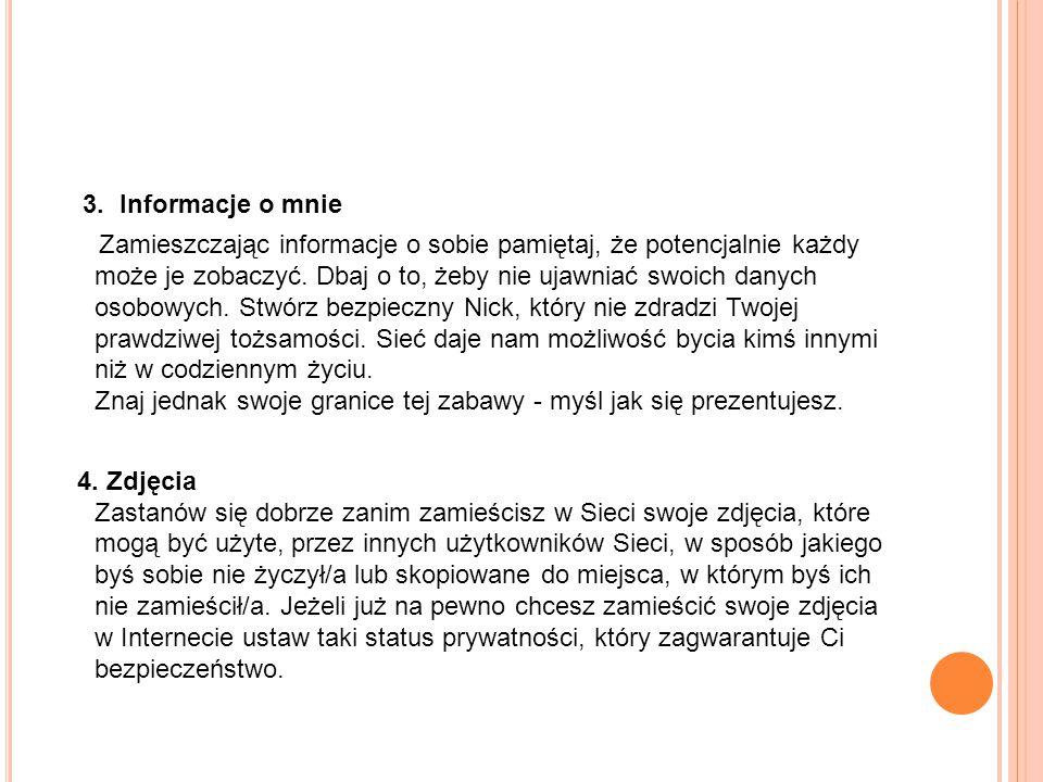 3. Informacje o mnie
