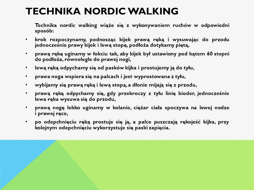 Technika nordic walking