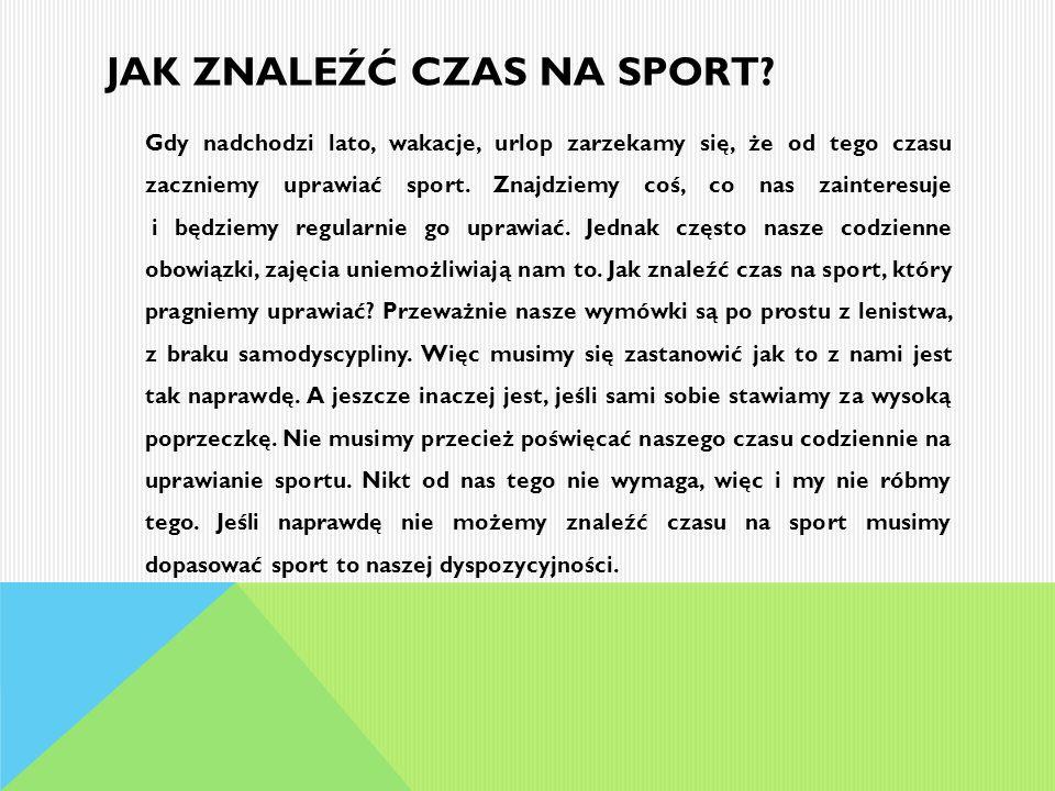 Jak znaleźć czas na sport