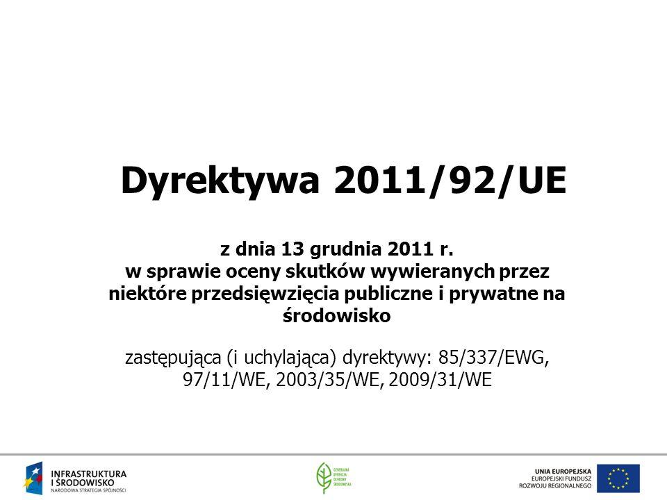 Dyrektywa 2011/92/UE z dnia 13 grudnia 2011 r.
