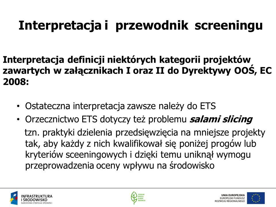 Interpretacja i przewodnik screeningu