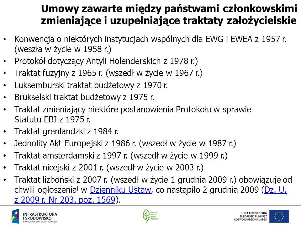 Umowy zawarte między państwami członkowskimi zmieniające i uzupełniające traktaty założycielskie
