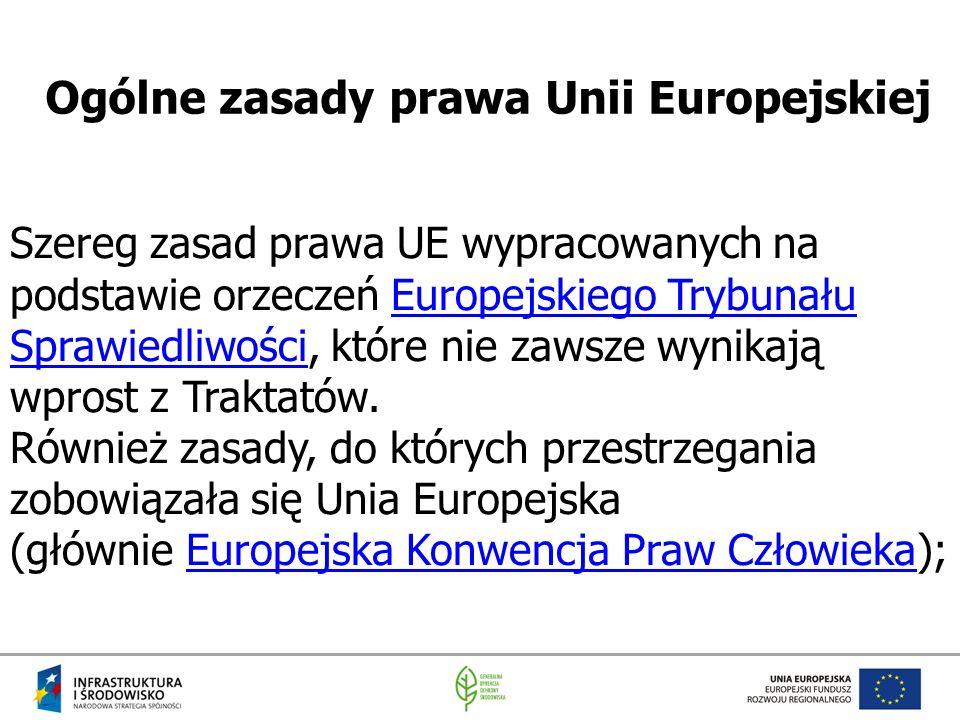 Ogólne zasady prawa Unii Europejskiej