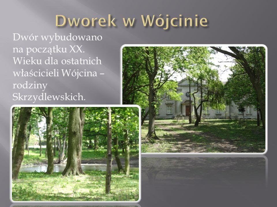 Dworek w Wójcinie Dwór wybudowano na początku XX.