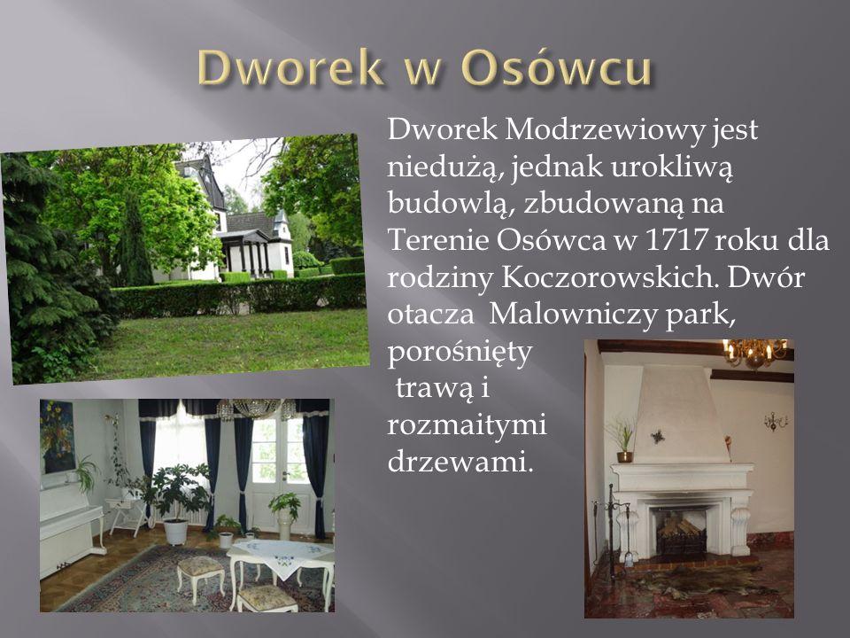 Dworek w Osówcu Dworek Modrzewiowy jest niedużą, jednak urokliwą budowlą, zbudowaną na.