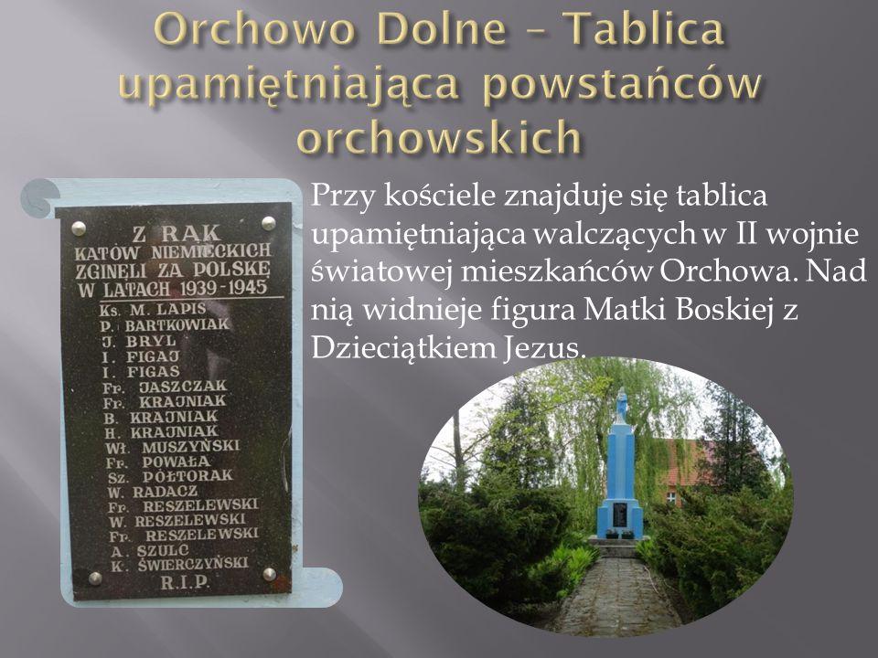 Orchowo Dolne – Tablica upamiętniająca powstańców orchowskich