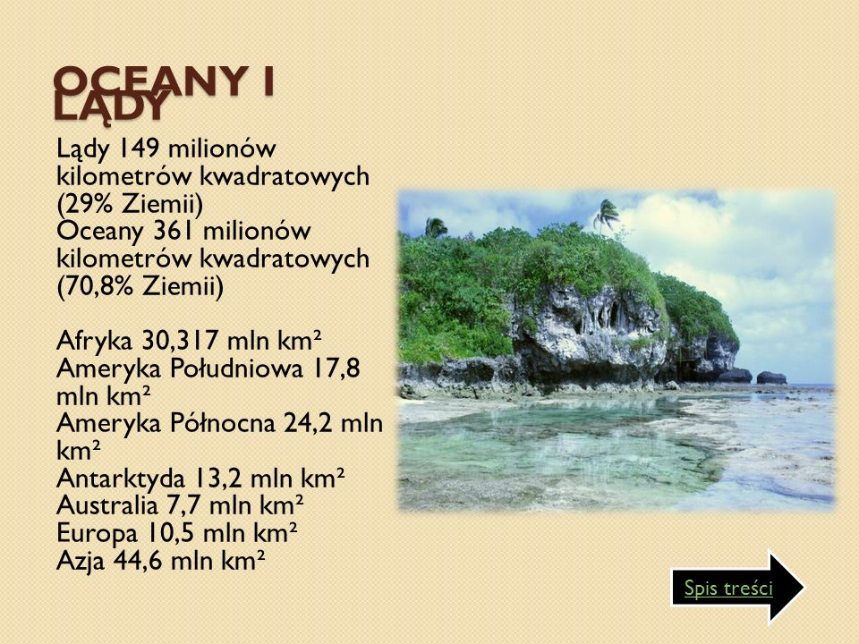 Oceany i lądy