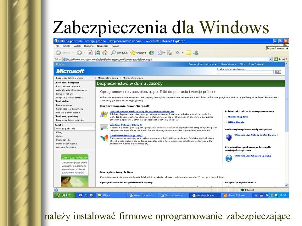 Zabezpieczenia dla Windows