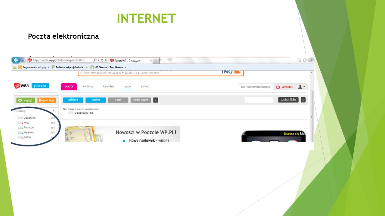 INTERNET Poczta elektroniczna