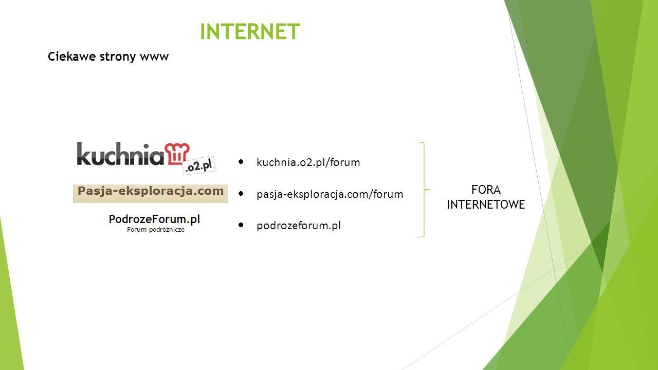 INTERNET Ciekawe strony www kuchnia.o2.pl/forum