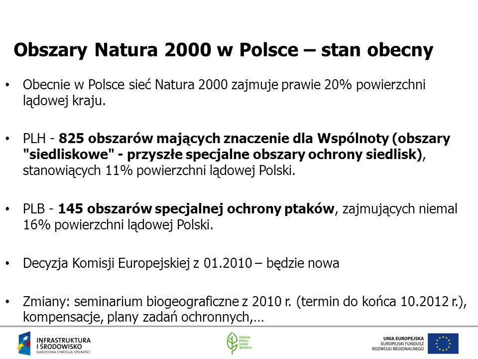 Obszary Natura 2000 w Polsce – stan obecny