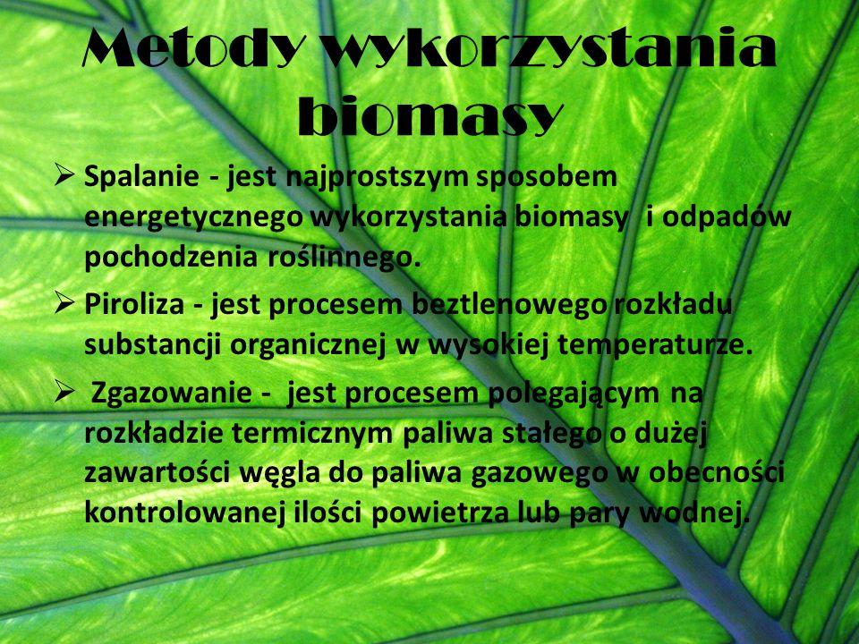 Metody wykorzystania biomasy