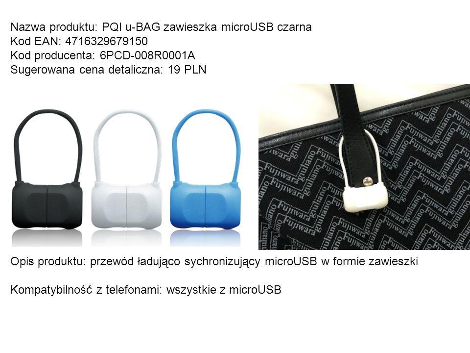 Nazwa produktu: PQI u-BAG zawieszka microUSB czarna